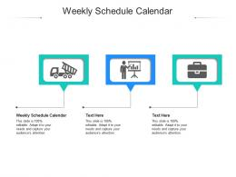 Weekly Schedule Calendar Ppt Powerpoint Presentation Model Example Introduction Cpb