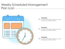 Weekly Scheduled Management Plan Icon