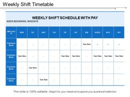 Weekly Shift Timetable