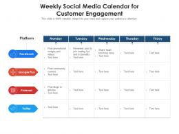 Weekly Social Media Calendar For Customer Engagement