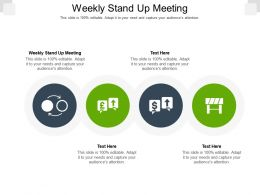 Weekly Stand Up Meeting Ppt Powerpoint Presentation Slides Layout Cpb