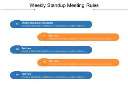 Weekly Standup Meeting Rules Ppt Powerpoint Presentation Styles Format Ideas Cpb