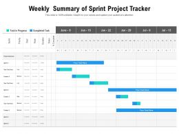 Weekly Summary Of Sprint Project Tracker