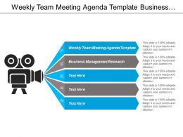 Weekly Team Meeting Agenda Template Business Management Research Cpb