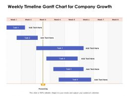 Weekly Timeline Gantt Chart For Company Growth Ppt Powerpoint Presentation Design