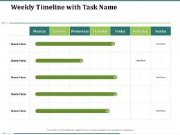 Weekly Timeline With Task Name Days N302 Ppt Powerpoint Presentation Example Introduction