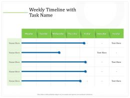 Weekly Timeline With Task Name M2277 Ppt Powerpoint Presentation Styles Design Inspiration