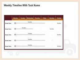 Weekly Timeline With Task Name Mon To Sun Ppt Professional