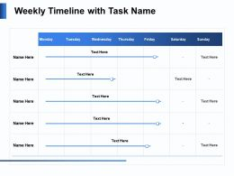 Weekly Timeline With Task Name N126 Ppt Powerpoint Presentation Example