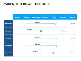 Weekly Timeline With Task Name N404 Powerpoint Presentation Icons