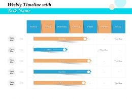 Weekly Timeline With Task Name Ppt File Slides