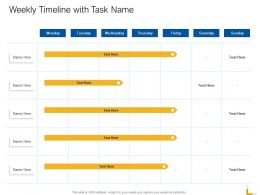 Weekly Timeline With Task Name Ppt Powerpoint Presentation Guidelines