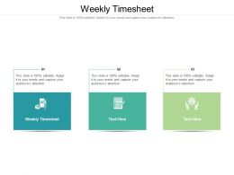 Weekly Timesheet Ppt Powerpoint Presentation Inspiration Layout Cpb