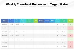 Weekly Timesheet Review With Target Status