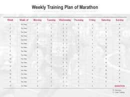Weekly Training Plan Of Marathon