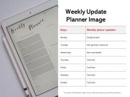 Weekly Update Planner Image