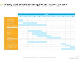Weekly Work Schedule Planning By Construction Company Test Ppt Powerpoint Presentation Layouts