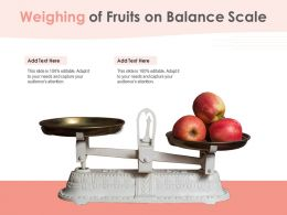 Weighing Of Fruits On Balance Scale