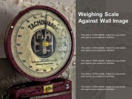 Weighing Scale Against Wall Image