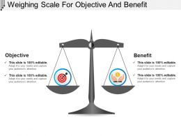 Weighing Scale For Objective And Benefit PowerPoint Images