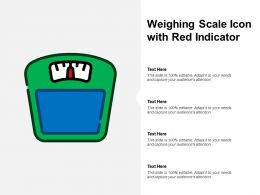 Weighing Scale Icon With Red Indicator