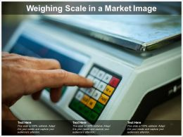 Weighing Scale In A Market Image