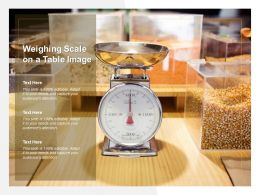 Weighing Scale On A Table Image