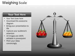 Weighing Scale Powerpoint Presentation Slides DB