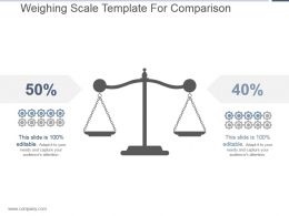 Weighing Scale Template For Comparison Presentation Layouts