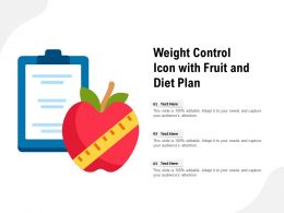 Weight Control Icon With Fruit And Diet Plan