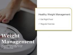 Weight Management Sample Ppt Files