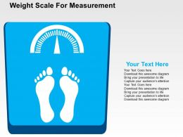 Weight Scale For Measurement Flat Powerpoint Design