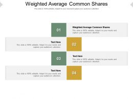 Weighted Average Common Shares Ppt Powerpoint Presentation Infographic Cpb