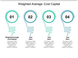 Weighted Average Cost Capital Ppt Powerpoint Presentation Icon Maker Cpb