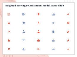 Weighted Scoring Prioritization Model Icons Slide Ppt Powerpoint Presentation Slide