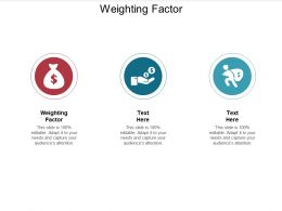 Weighting Factor Ppt Powerpoint Presentation Summary Layouts Cpb