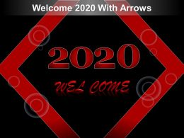 Welcome 2020 With Arrows Ppt Structure
