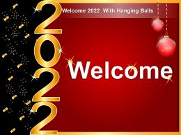 Welcome 2022 With Hanging Balls Ppt Portrait