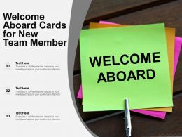 Welcome Aboard Cards For New Team Member