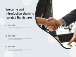 Welcome And Introduction Showing Isolated Handshake