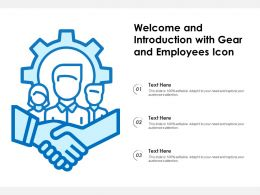 Welcome And Introduction With Gear And Employees Icon
