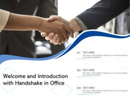 Welcome And Introduction With Handshake In Office