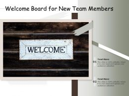 Welcome Board For New Team Members