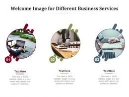 Welcome Image For Different Business Services Infographic Template