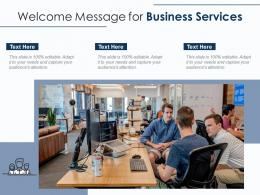 Welcome Message For Business Services Infographic Template