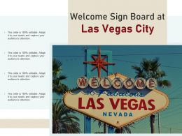Welcome Sign Board At Las Vegas City