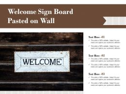 Welcome Sign Board Pasted On Wall
