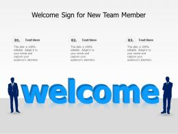 Welcome Sign For New Team Member