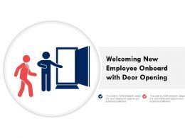 Welcoming New Employee Onboard With Door Opening