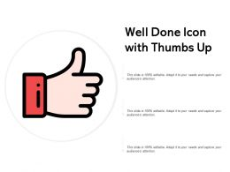 Well Done Icon With Thumbs Up